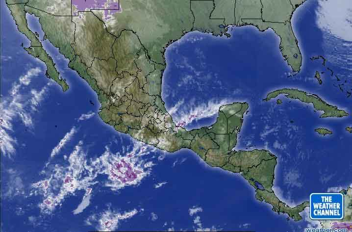 mexico weather satellite map mexico map